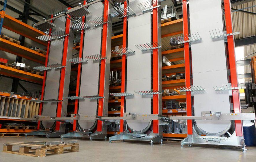 Verticale transportband lift