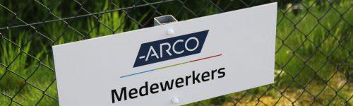 Medewerkers bordje ARCO