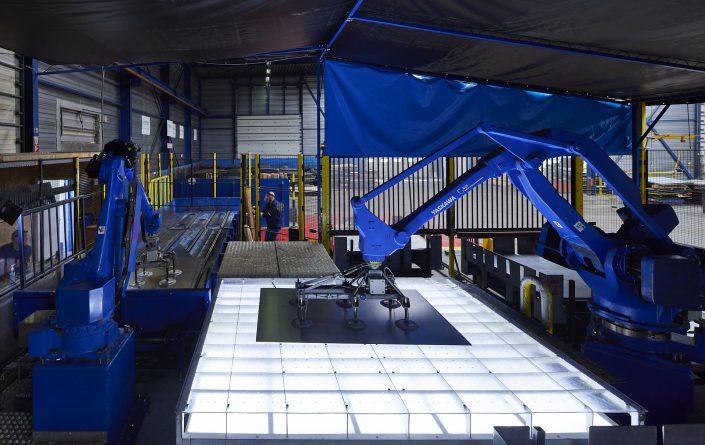 Delta Robot in metaalindustrie