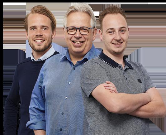 Medewerkers Bjorn, Bram en Albert