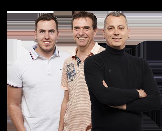 Medewerkers Paul, Eric en Ramon