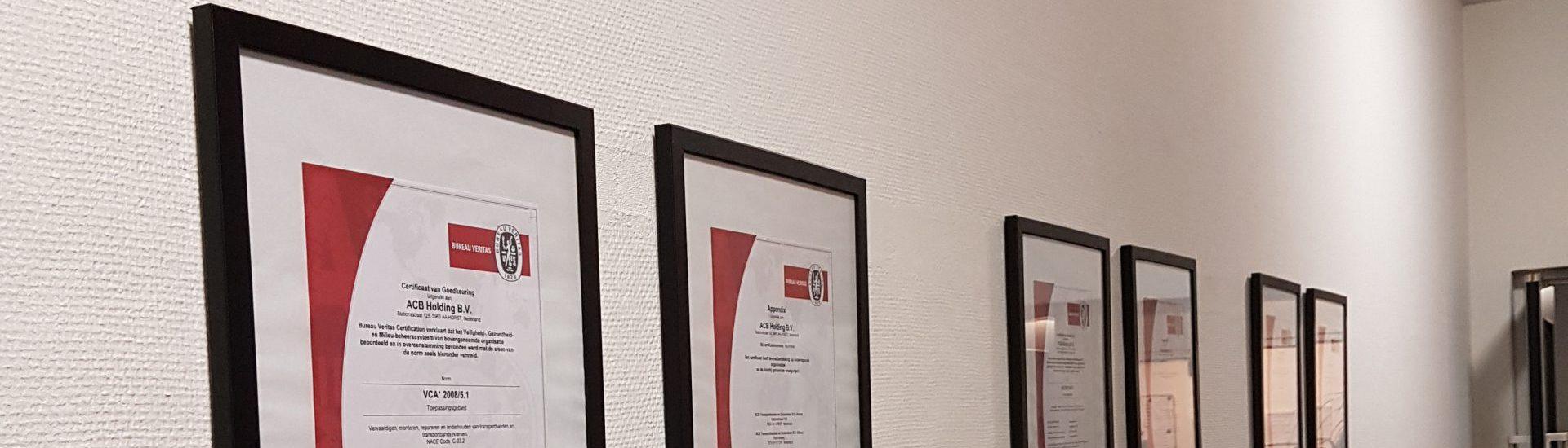 ISO certificaten