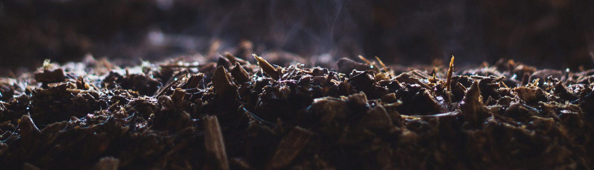 Detailfoto van houtsnippers